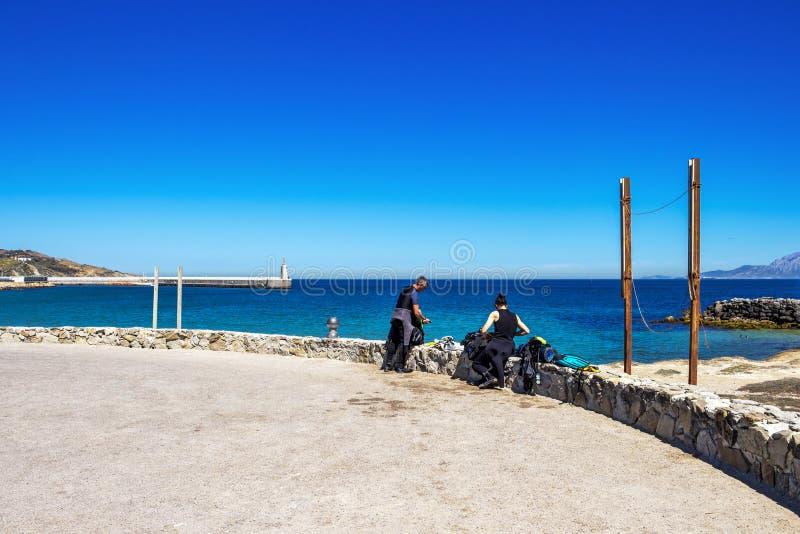 Isla da las Palomas, Andalusia, Spain royalty free stock photography