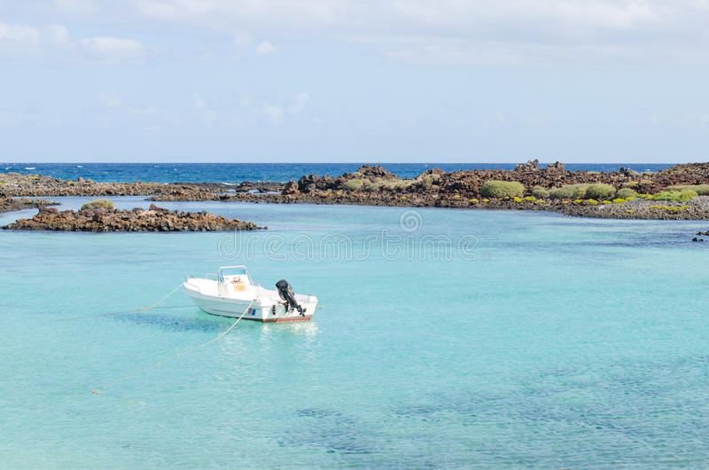 Isla de罗伯斯绿松石水  免版税库存照片