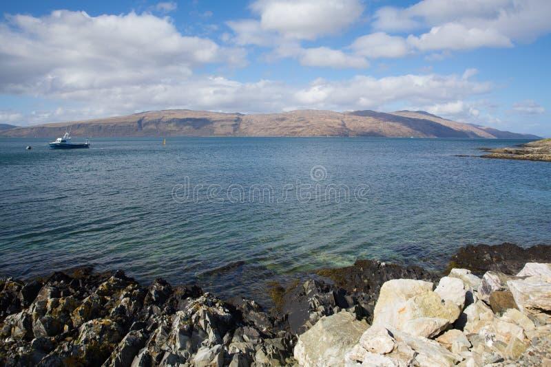 Isla de Craignure Mull Argyll y de la opinión británica de la costa de Escocia del Bute a Morvern fotos de archivo libres de regalías