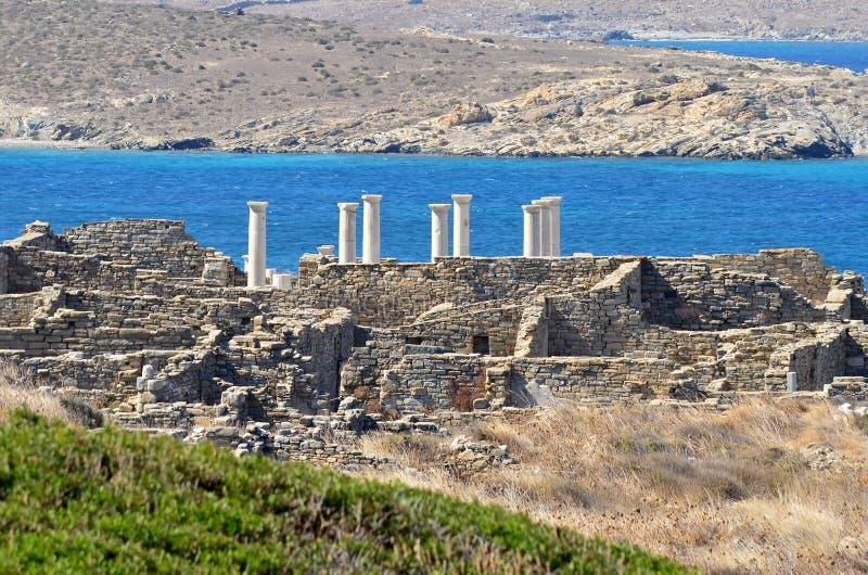 Isla de Delos en Grecia. foto de archivo