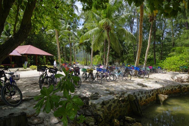Isla de Digue del La, Seychesses imagen de archivo