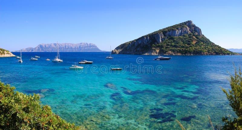 Isla de Figarolo imagenes de archivo