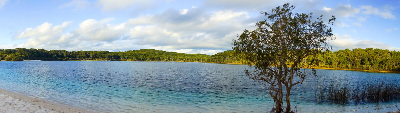 Isla de fraser del mckenzie del lago fotos de archivo libres de regalías