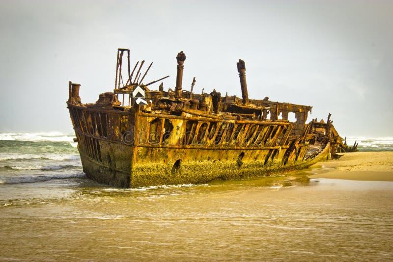 Isla de Fraser del naufragio de Maheno imagen de archivo