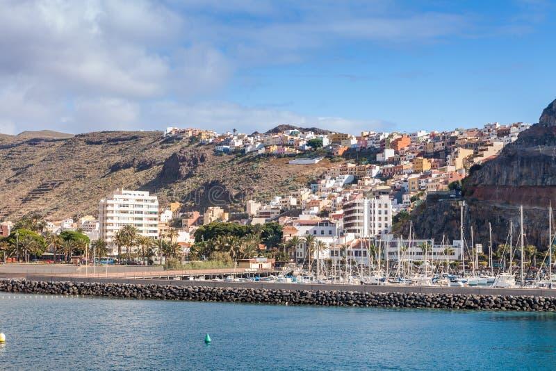Isla de Gomera del La foto de archivo