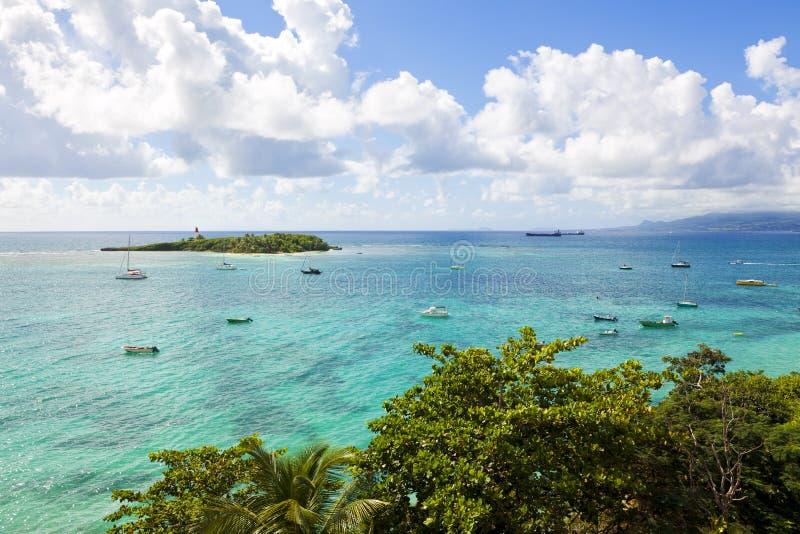 Isla de Gosier, Guadalupe foto de archivo libre de regalías