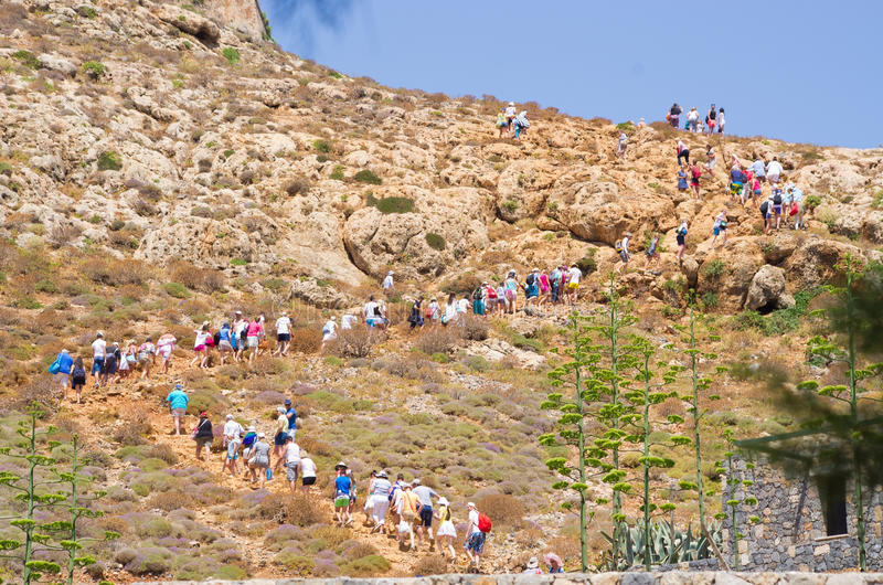 Isla de Gramvousa en Creta foto de archivo
