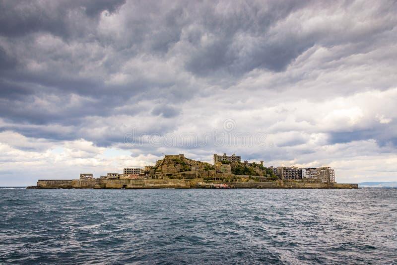 Isla de Gunkanjima, Nagasaki, Japón imágenes de archivo libres de regalías