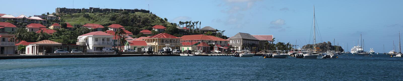 Isla de Gustavia St Barthelemy, del Caribe foto de archivo