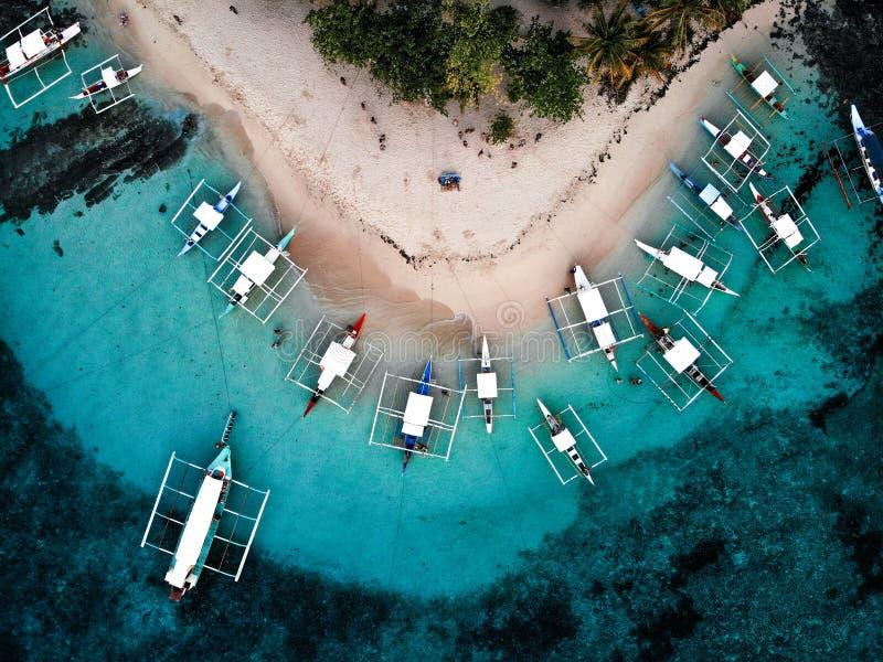 Isla de Guyam desde arriba - de las Filipinas imagenes de archivo