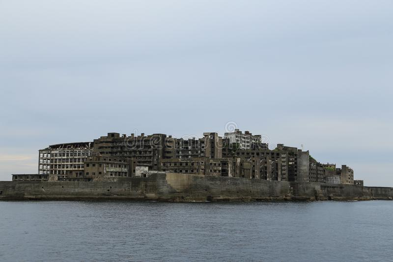 Isla de Hashima foto de archivo libre de regalías