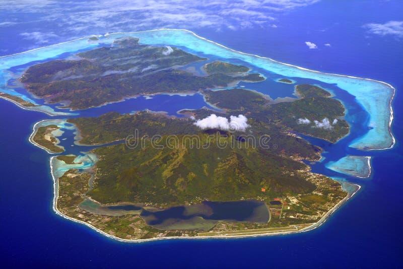 Isla de Huahine imagen de archivo libre de regalías