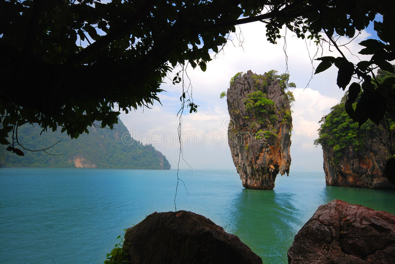 Isla de James Bond (KOH Tapoo) foto de archivo