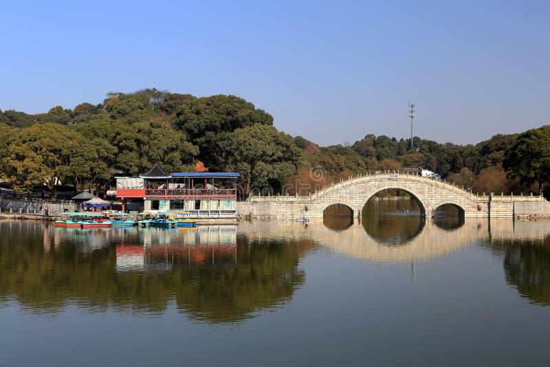 Isla de Junshan en el área del lago Dongting imagenes de archivo