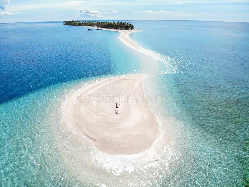 Isla de Kalanggaman desde arriba - de las Filipinas foto de archivo