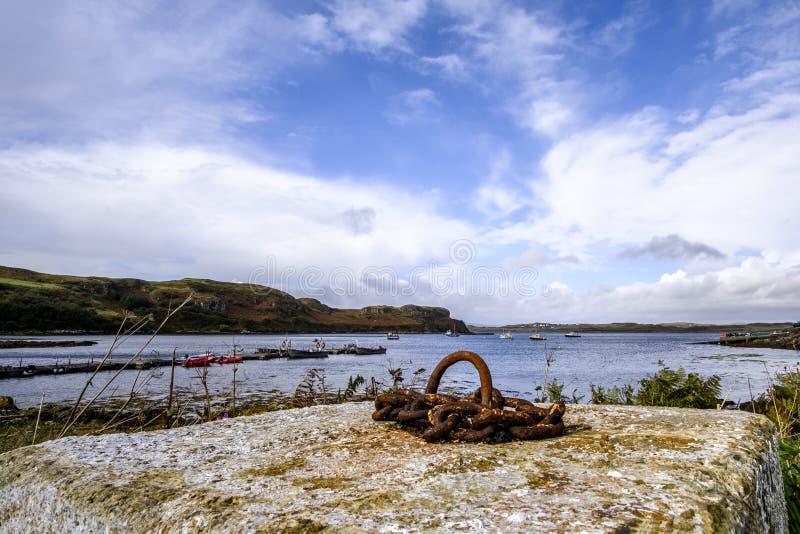 Isla de la bahía de Skye imagen de archivo libre de regalías