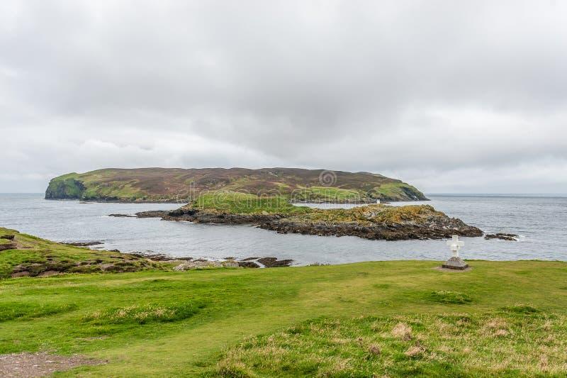 Isla de la costa inglesa verde imágenes de archivo libres de regalías
