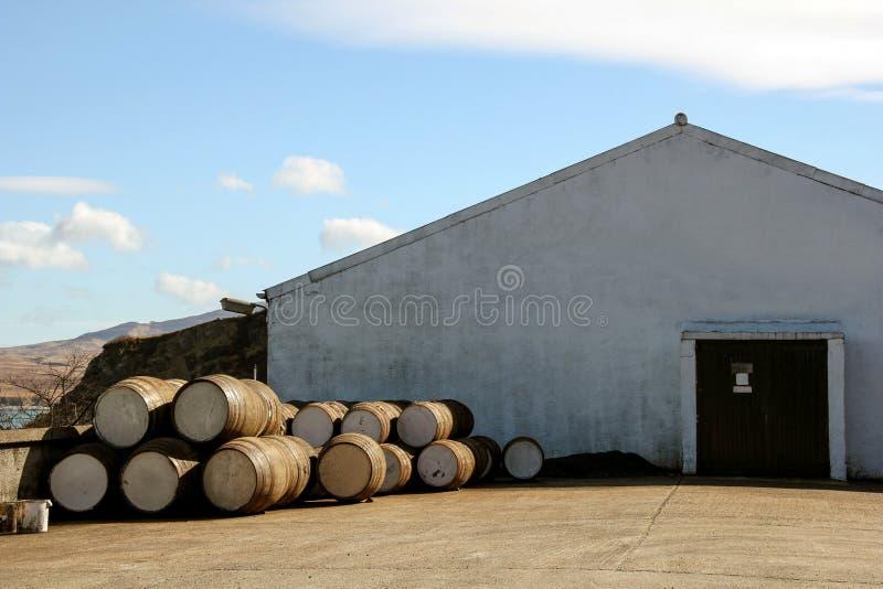 Isla de la destilería del whisky escocés de Islay Escocia imagen de archivo