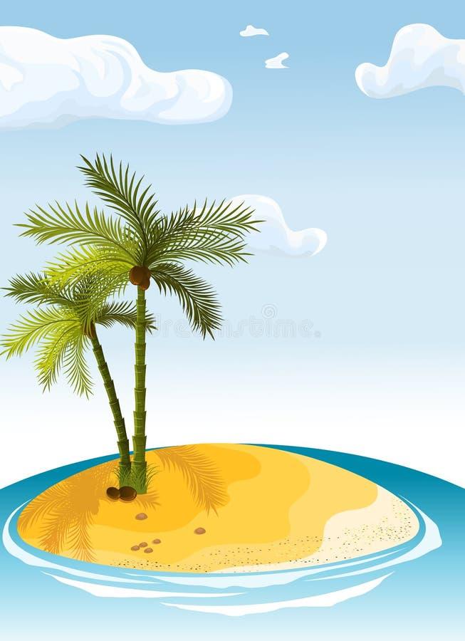 Isla de la palma stock de ilustración