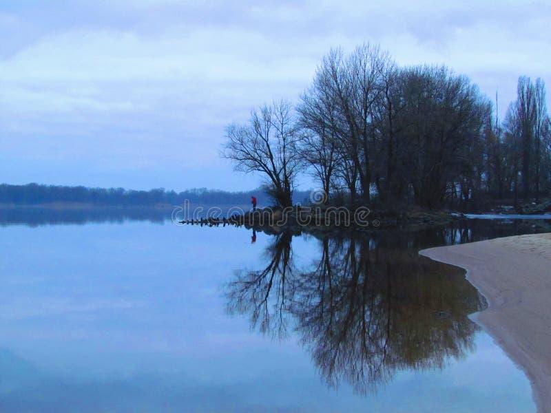 isla de la piedra en el río Kremenchuk de Dnieper fotografía de archivo