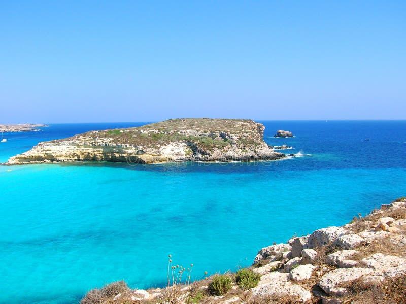 Isla de Lampedusa imagen de archivo