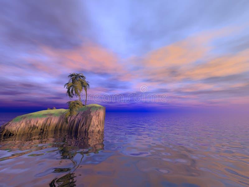 Isla de las palmas de coco imagen de archivo libre de regalías