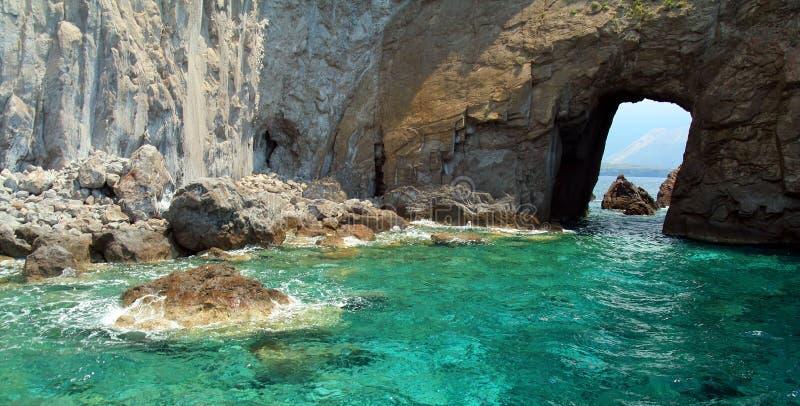 Isla de Lipari imagen de archivo
