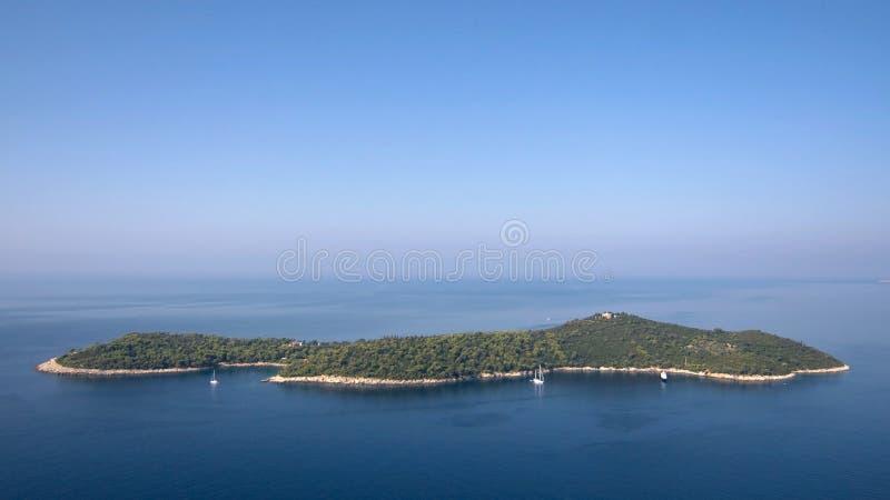 Isla de Lokrum fotos de archivo