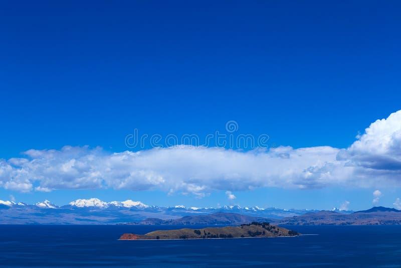 Isla de los angeles Luna w Jeziornym Titicaca, Boliwia zdjęcia stock