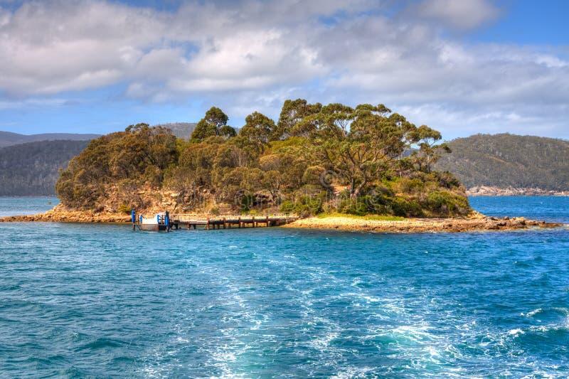 Isla de los muertos, Port Arthur, Tasmania imagen de archivo