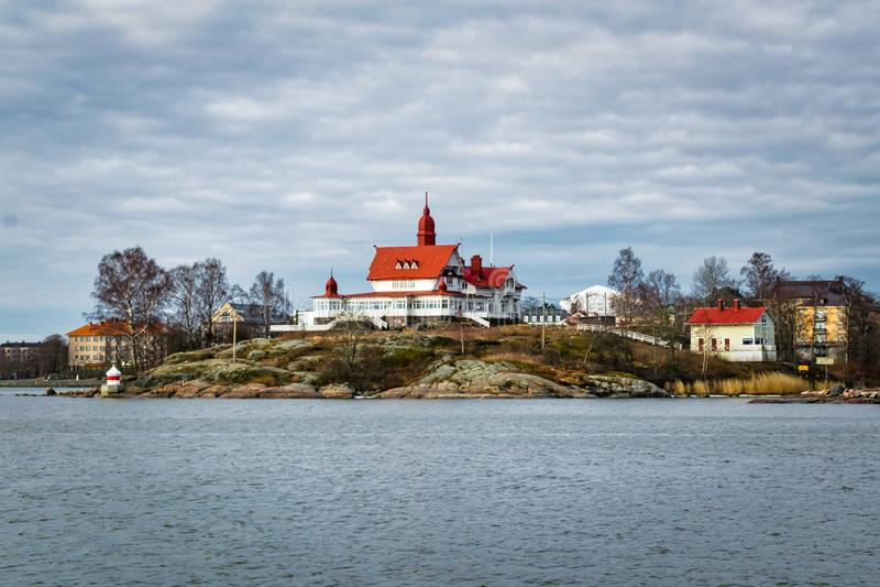 Isla de Luoto en Finlandia foto de archivo libre de regalías