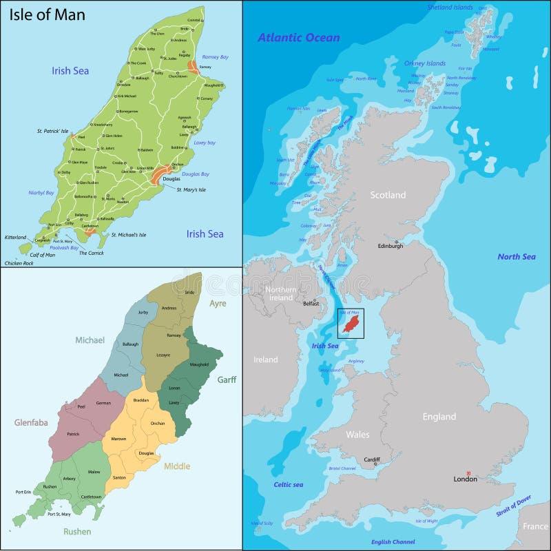 Isla de Man stock de ilustración