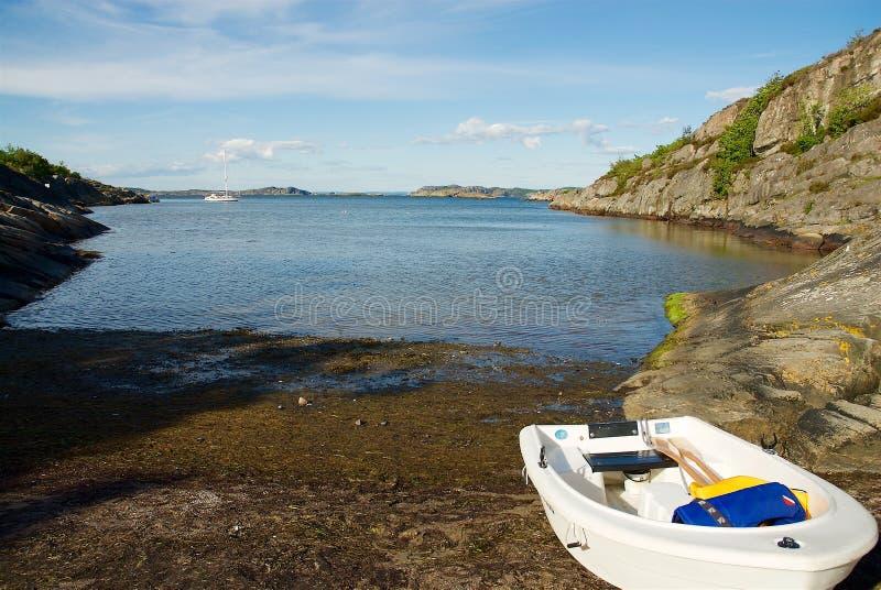 Isla de Marstrand en la costa oeste en Suecia fotografía de archivo