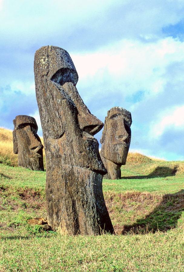 Isla de Moai- pascua imagenes de archivo
