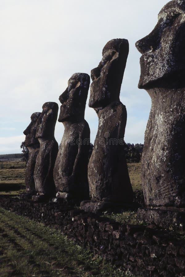 Isla de Moai- pascua, Chile imagenes de archivo