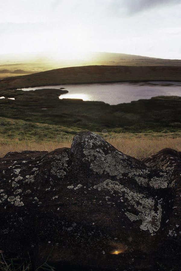 Isla de Moai- pascua, Chile foto de archivo