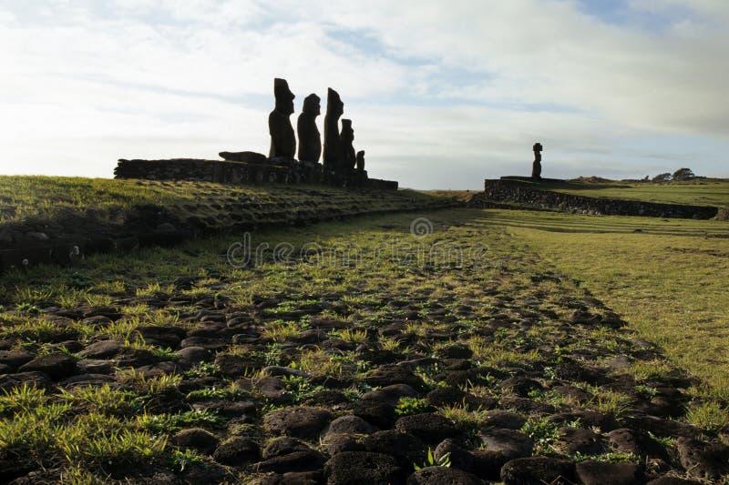 Isla de Moai- pascua, Chile fotos de archivo