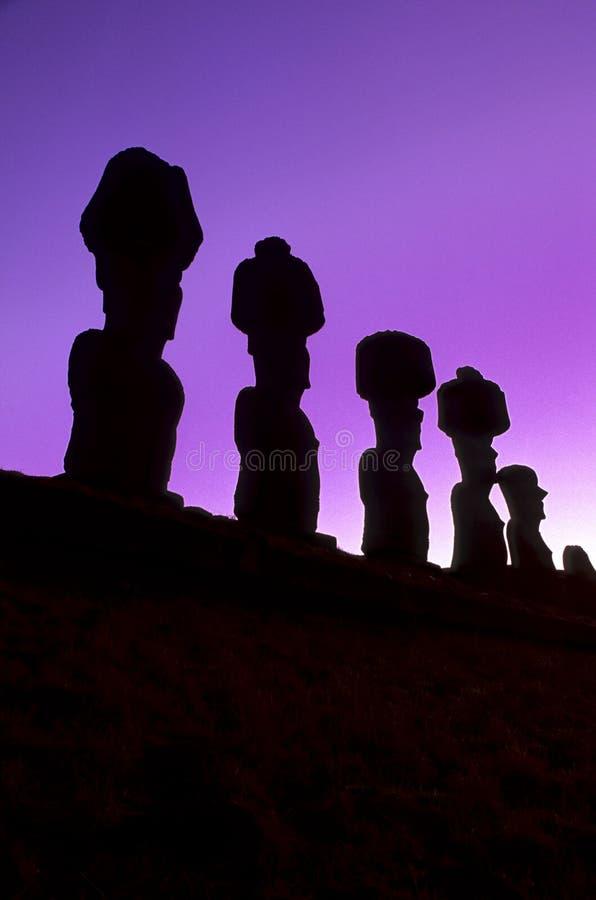 Isla de Moais- pascua, Chile fotos de archivo
