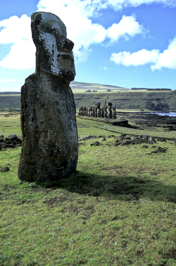 Isla de Moais- pascua, Chile fotografía de archivo libre de regalías