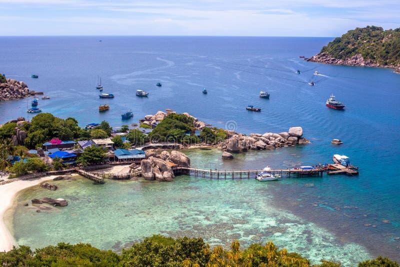 Isla de Nang Yuan en Tailandia imagen de archivo libre de regalías