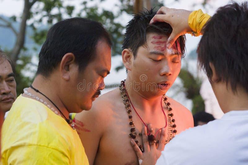 ISLA de PANGKOR, MALASIA - 17 de febrero de 2011 festival de Masi Magam fotos de archivo