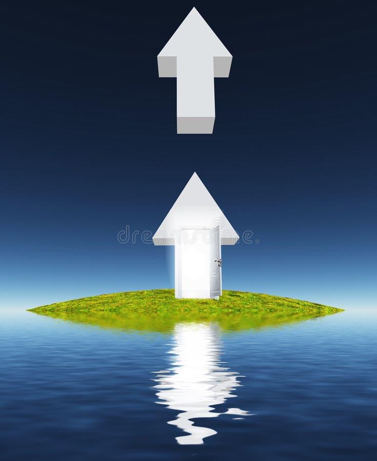 Isla de para arriba stock de ilustración