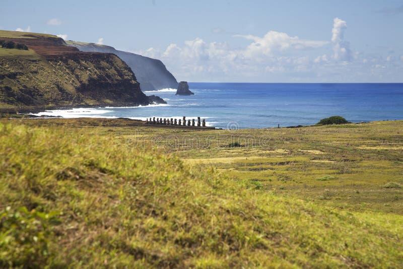 Isla de pascua foto de archivo