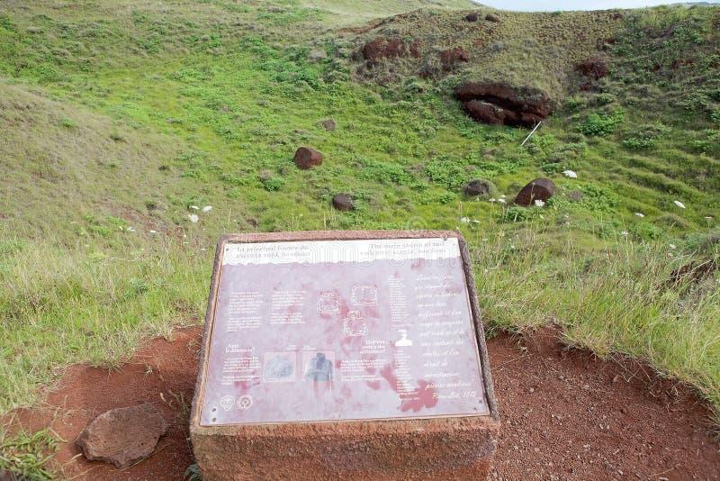 Isla de pascua, Chile foto de archivo libre de regalías