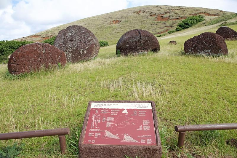 Isla de pascua, Chile fotos de archivo