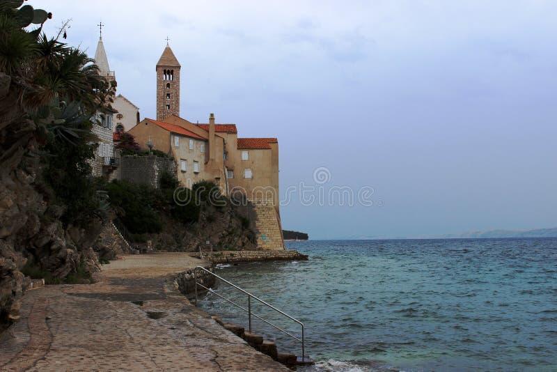 Isla de Rab en Croacia imagenes de archivo