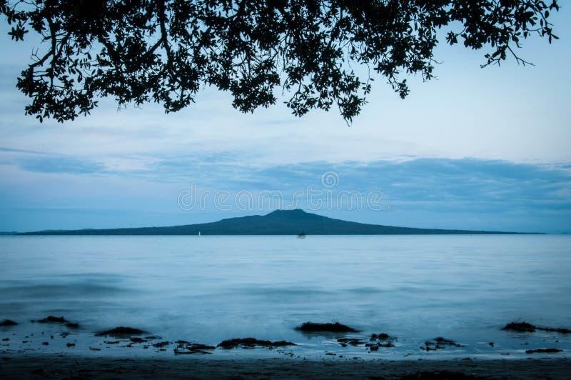 Isla de Rangitoto foto de archivo