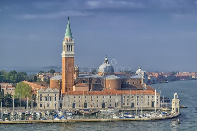 Isla de San Jorge Maggiore en Venecia, Italia foto de archivo libre de regalías