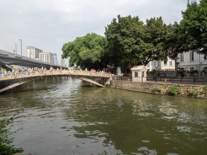 Isla de Shamian, Guangzhou, China imagenes de archivo