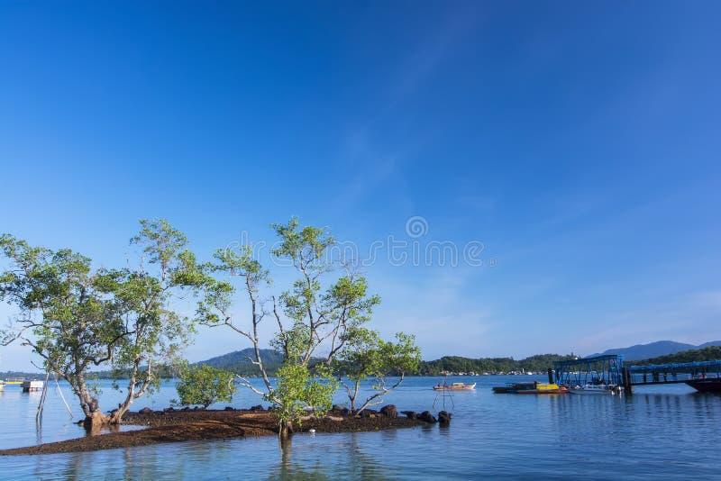 Isla de Singkep de la terminal de transbordadores de Jagoh imagen de archivo